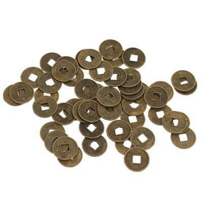 50 Pcs Feng Shui Chinese Ancient Coins Lucky Ching Coins for Fortune Health