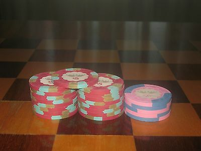 Lot of 22 Empress Casino SECONDARY Poker Chips: 17 $5 Chips & 5 $2.50 Chips New