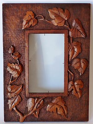 AUSTRALIAN HAND CARVED ANTIQUE FRAME WALL HANGING photo picture c1900 cedar