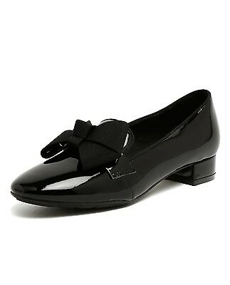 NEW $159.95 Gamins Holey Black Leather Low Heels work shoes Women