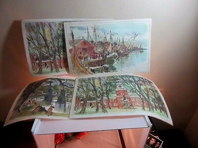 4x Esso Tiger Gas, oil advertising place mats. Exxon
