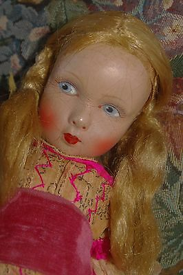 Antique Gorgeous 1904 Early German Paper Mache Doll MMM MA.E.MAAR All Original