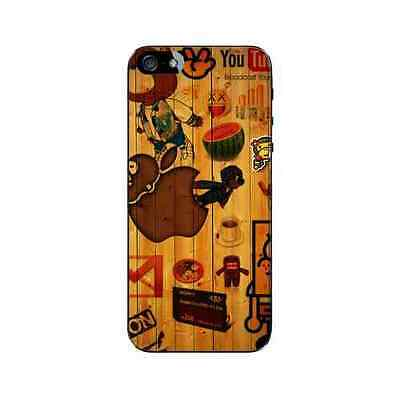 Coque iPhone 5 5S SE Apple Wood Plastique ou Silicone - Gel ou Plastique (au cho