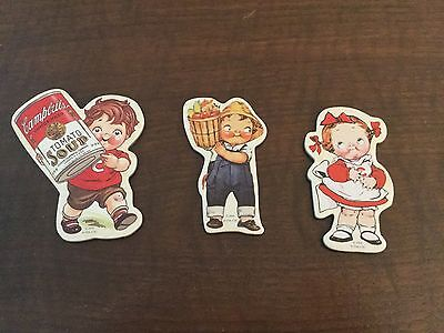Lot of 3 CAMPBELL KIDS Magnets Campbell's Soup Company