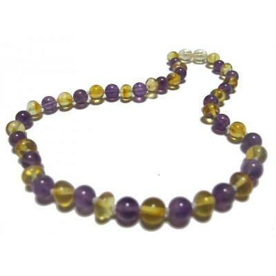 NEW Slobber Beads Amber and Amethyst