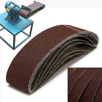 6 Packs 4'' x 36'' (100x915mm) 40 Grit Sanding Sander Belts for Metal Working