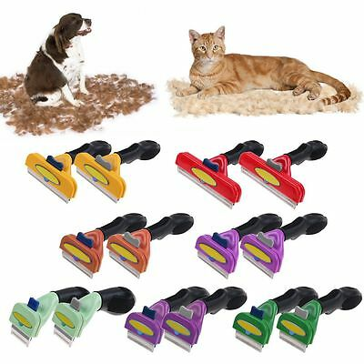 Pet Dog Cat Long Short Hair Fur Loss Shedding Remove Grooming Rake Comb Brush