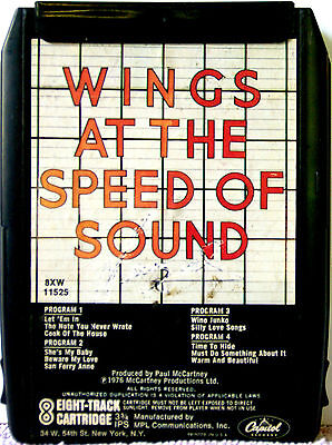 WINGS At The Speed Of Sound 8 TRACK CARTRIDGE TAPE (Paul McCartney)