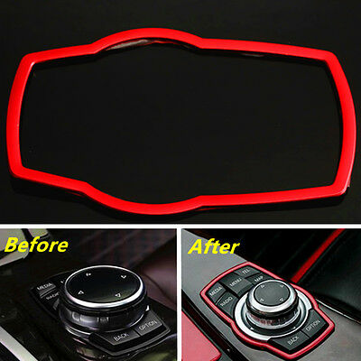 Car Interior Multimedia Buttons Frame Cover Trim For BMW Series F30 320 X5 X6