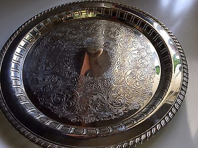 William A. Rogers for Oneida Silversmiths 12 in silver plated platter