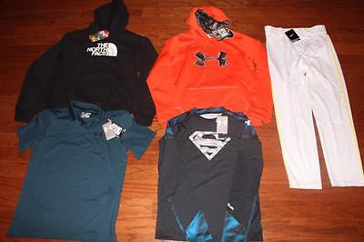 Boys Under Armour Lot Hoodies Golf Polo Alter Ego Shirt Nike Pants North Face Xl