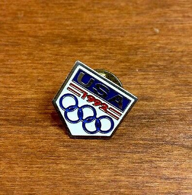 USA 1992 Olympic Pin, Pin-backs Winter Olympics Albertville, France