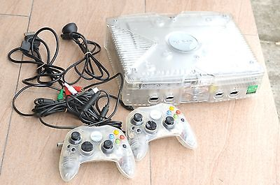 MICROSOFT XBOX limited Crystal Console PAL w/ 2 Controller SmartXX Modded Dash11