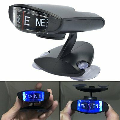 Universal Blue Led Light Compass For Car SUV AutoTruck Interior Dash/Windshield