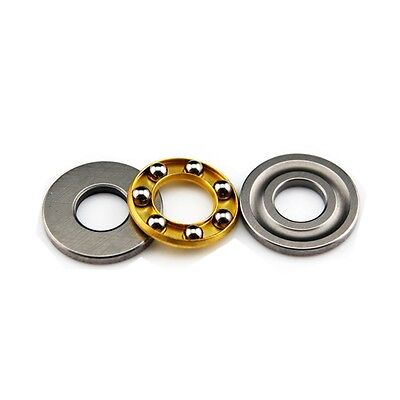 10Pcs 8 x 16 x 5 mm F8-16M Axial Ball Thrust Bearing 3-Parts