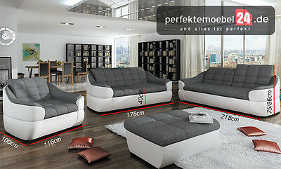 3 sitzer sofa mit schlaffunktion mit sessel eur 1 00 picclick de. Black Bedroom Furniture Sets. Home Design Ideas