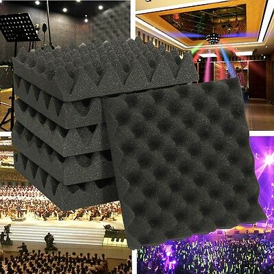 1/6/24/30X Studio Acoustic Absorption Foam Sound Noise Insulation Panel Tile KTV