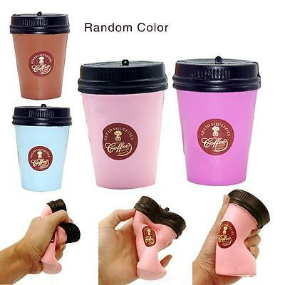 1 Pcs Cute Squishy Slow Rising Jumbo 11CM Coffee Cup Phone Strap Stretchy YU