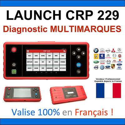 Valise Diagnostique Multimarque - Launch Creader Professionnel Crp 229 - Obdii