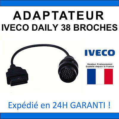 Adaptateur OBD2 vers IVECO DAILY 38 BROCHES - DIAG Auto Valise ELM327