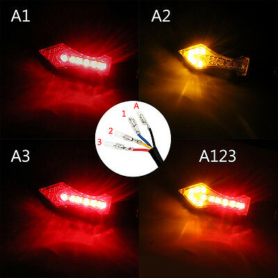 ITimo 1 Pair Turn Signal Lamp 12 LED Turn Light Motorcycle Flasher Amber & Red