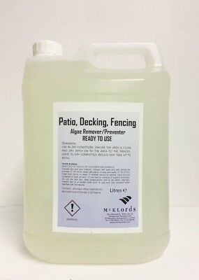 MOULD, ALGAE AND MOSS REMOVER for Patio, Drives, Decking and Fencing.