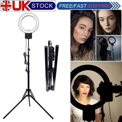 40W 5400K 32cm Ring Light with 185cm Stand for Phone Video Photo Make Up Selfie