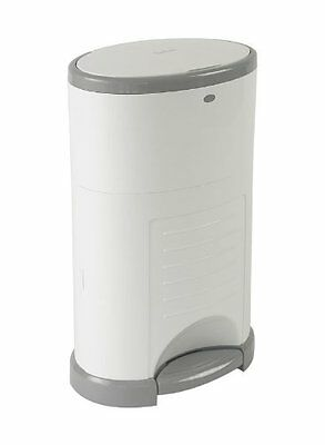 KORBELL PLUS 26L Nappy Waste Sealed Anti Bacterial Pedal Bin Pure White