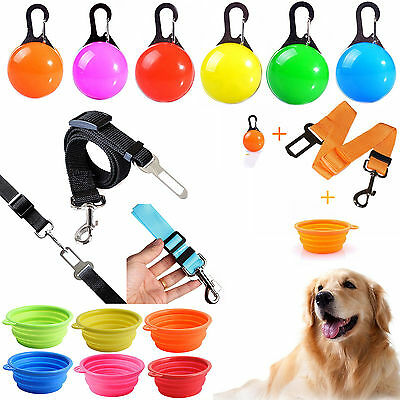 Travel Bowl Seat Nylon Rope Dog Folding Set Belt Restraint Cat Portable Pet Clip
