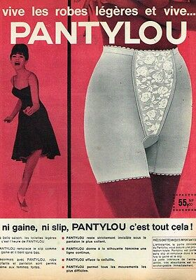 E- Publicité Advertising 1962 Lingerie la gaine pantylou Panty LOU