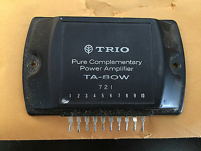 TRIO TA-80W Pure Complementary Power Amplifier Integrated Circuit IC Used