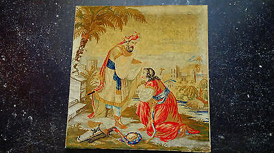 Large 18th Century Antique Wall Hanging Needlepoint Tapestry