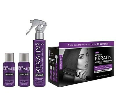 Kativa Keratin XPRESS Brazilian Straightening NEW Kit. Up to 10 weeks !