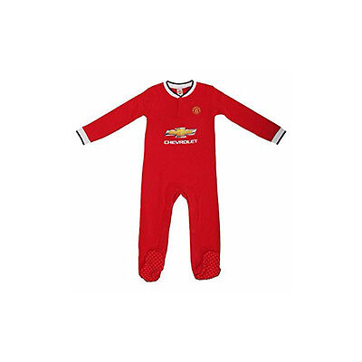 Manchester United FC Man U Football Sleepsuit Merch Baby 0 - 18 Months