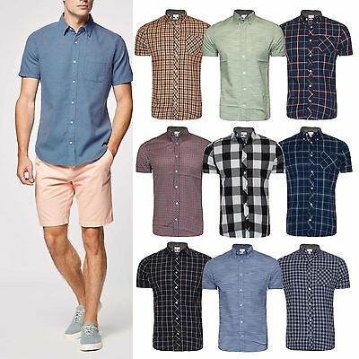 Men's Next Branded Check Shirt Short Sleeve Shirt Casual Check Designer Shirt