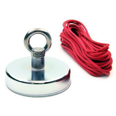 River Fishing Recovery Magnet with M14 Eyebolt and Strong 130kg 10 Metre Rope