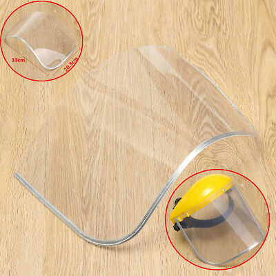 Safety Transparent Grinding Face Shield Screen For Spare Visors Eye Protection