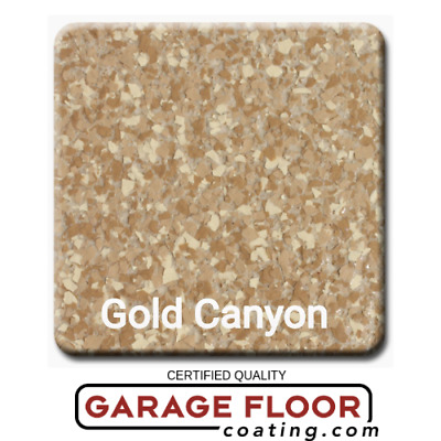 """5 lbs - Decorative Color Flake Chips for Epoxy Floor Coating, Gold Canyon 1/4"""""""