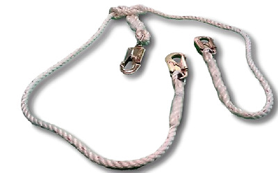 2 in 1 Lanyard for Arborists made from 3 strand rope
