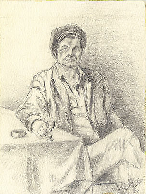 Pencil drawing collection, protrait of Théo. Huot