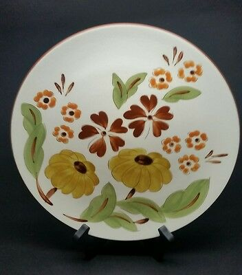 "VINTAGE Stangl First Love 10"" Dinner Plate Dish w Daisy Flowers RARE"