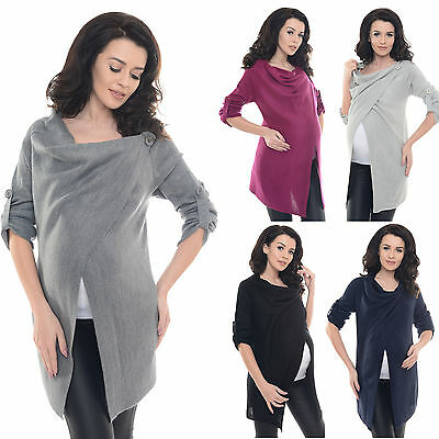 Purpless Maternity Pregnancy Nursing Sweater Cardigan Poncho Top Knit Coat B9005