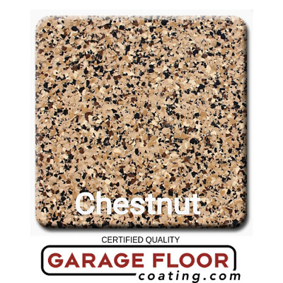 "5 lbs - Decorative Color Chip Flakes for Epoxy Floor Coatings, 1/4"" Chestnut"