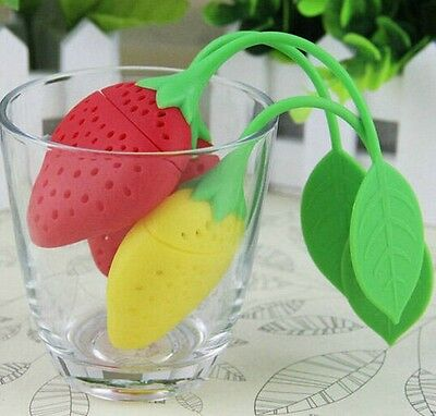 Tea Deffuser Infuser strainer Silicone loose Leaf Strawberry Filter Odourless