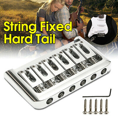 6 String Fixed Hard Tail Hardtail Bridge For Electric Guitar Parts Replacement