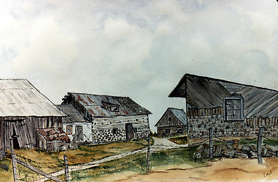 The Farm , Water color sketch