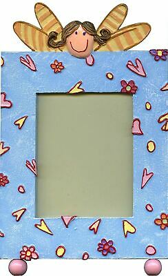 Blue Flower Fairy Princess Single Picture Frame for Girls Holds 3x3.75 Photo