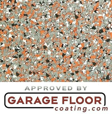 """2 lbs - Decorative Color Chip Flakes for Epoxy Floor Coating, 1/4"""" Blend CCB-004"""