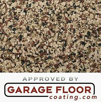 """5 lbs - Decorative Color Chip Flakes for Epoxy Floor Coatings, 1/4""""  #CCB-001"""