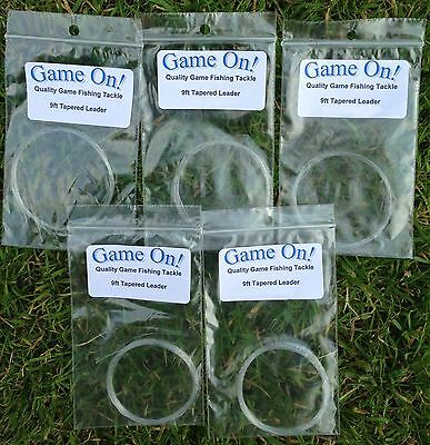 9 Foot Tapered Leaders For Fly Fishing Various Sizes - NEW, individually packed